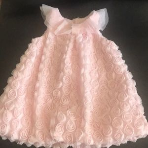 Little girls Pink lined sleeveless dress
